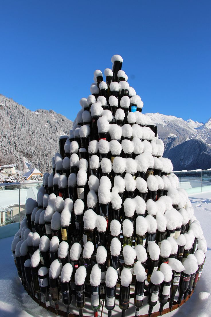 Bottletree covered in snow @ STOCK resort, Tyrol, Austria // www.stock.at