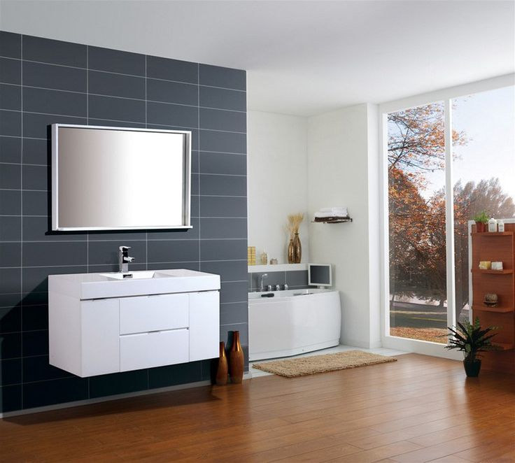 Bliss 48  High Gloss White Wall Mount Modern Bathroom Vanity19 best Wall Mounted Vanities images on Pinterest   Double vanity  . Modern Bathroom Vanities Ft Lauderdale. Home Design Ideas