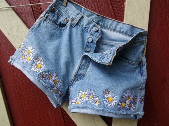 "Levi's Authorized Vintage x Lot, Stock and Barrel ""Vintage 501 Cut Off Shorts with Custom Emroidery"" in cotton, $148"