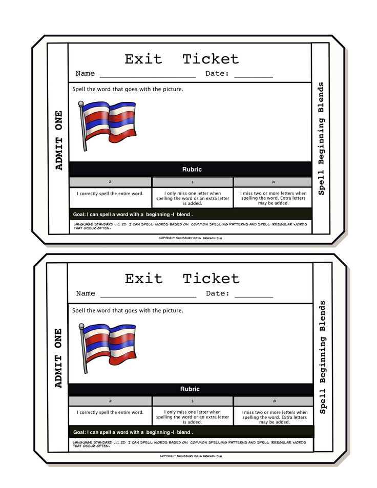 Best Exit Tickets Images On   Exit Tickets Formative
