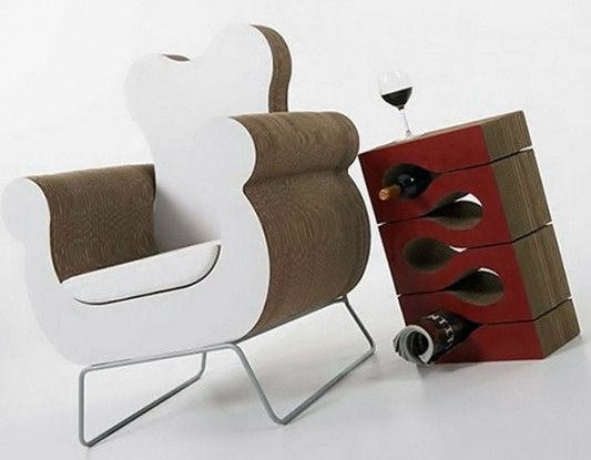 modern recycling Cardboard Furniture by Kube