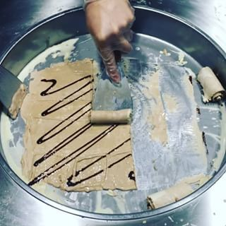 This is basically a super-fast version of what happens in any ice cream maker. Here's the Smores Galore in progress. | This Ice Cream Will Be The Most Mesmerizing Thing You See Today