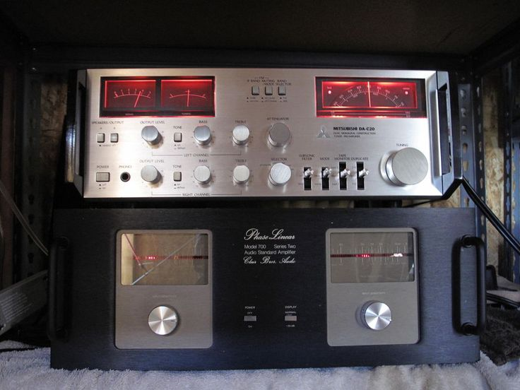 Phase Linear 700 II Clair Bros WOPL 500WPC and Mitsubishi  DA-C20 Preamp Tuner  | eBay