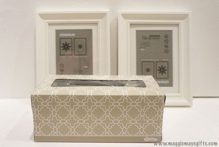 Repurposed Kleenex Box for Decorated Frames and Candles | Hometalk