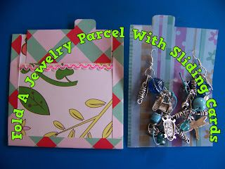 A Pretty Talent Blog: Fold A Sliding Card & Presentation Sleeve For Your Home-Made Jewelry