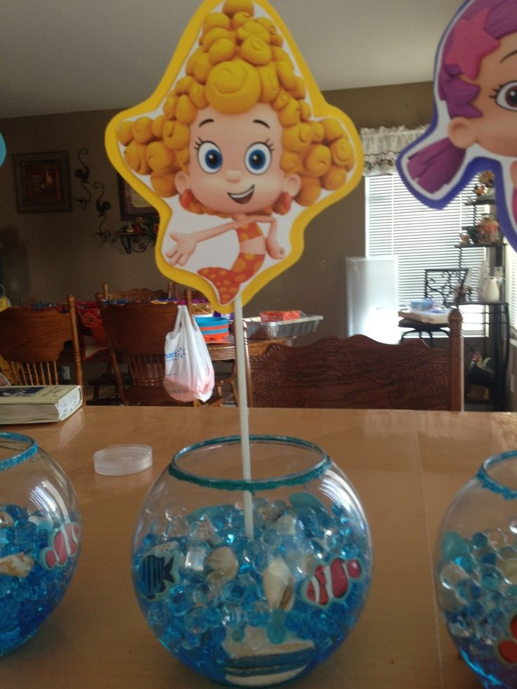 bubble guppies centerpiece ideas | Bubble Guppie centerpiece