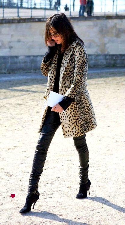 leopard print #coat   It List