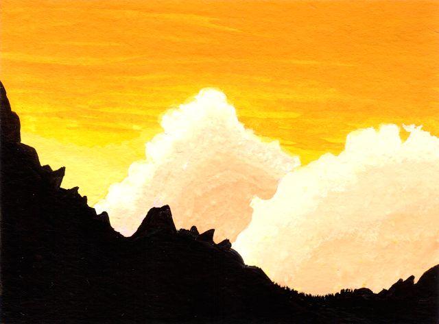 Desenho do Dia #272 - Montanhas - Soraia Casal