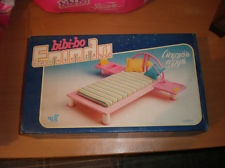 Wow....I used to have a bed similar to this in black laquor. : VINTAGE 80S BIBI-BO BED SET BARBIE SINDY RARE MIB GREEK EL GRECO MINT
