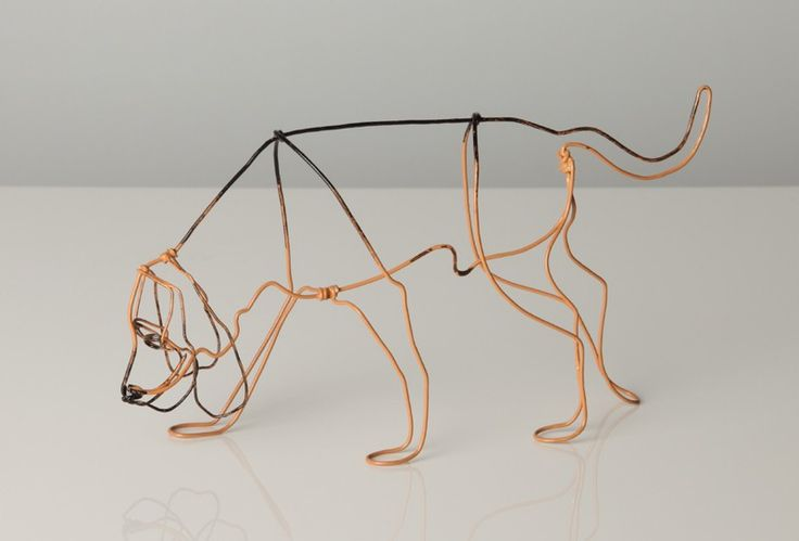Dogs in Art at the StockBridge Gallery - Wire Sculpture of Bloodhound by Bridget Baker, £40.00 (http://www.dogsinart.com/products/Wire-Sculpture-of-Bloodhound-by-Bridget-Baker.html)