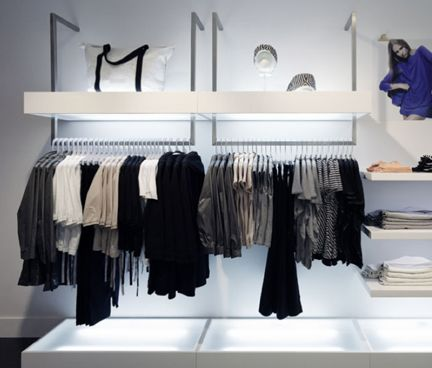 Efficiency of the Ditto hanger, 30% percent more clothing fits on the racks.