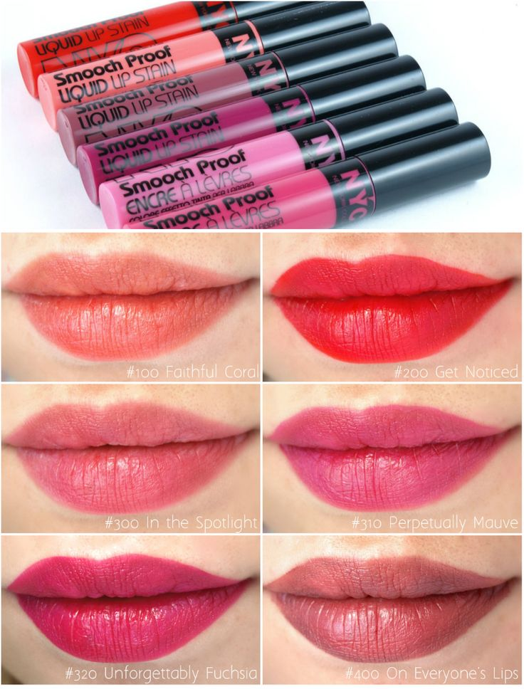 NYC New York Color Smooch Proof Liquid Lip Stain: Review and Swatches