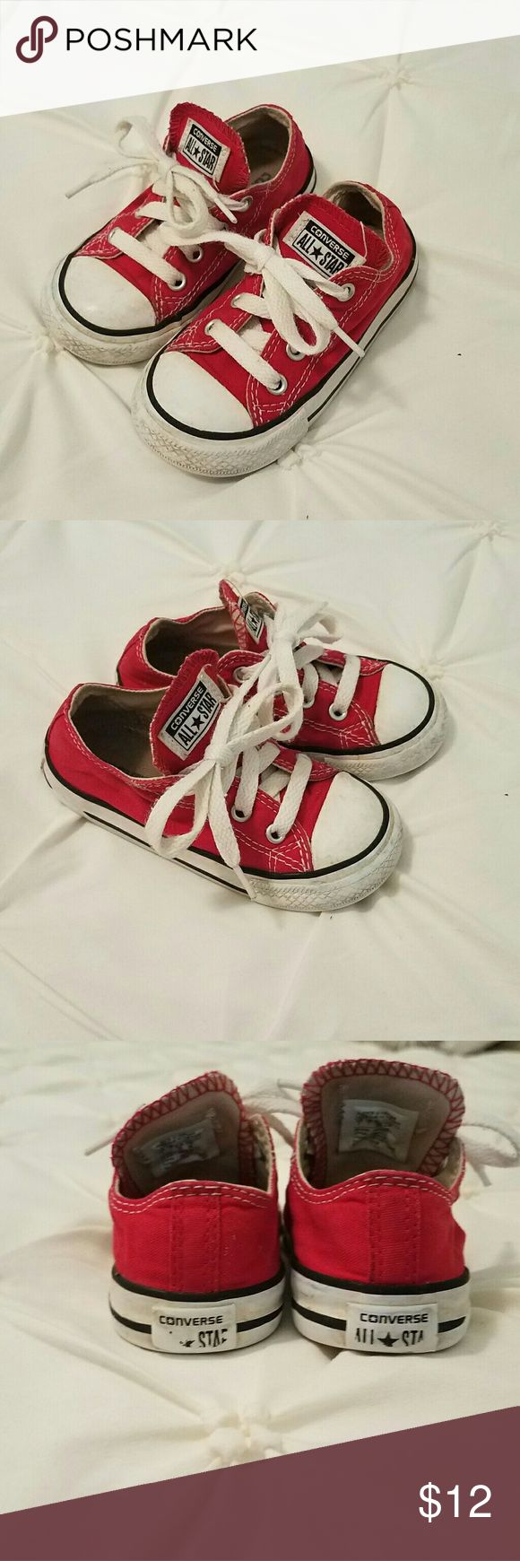 Converse Chuck Taylor Red Converse All Star  Red  Size 7  Boys Girls Toddler  Good condition, normal wear Converse Shoes Sneakers