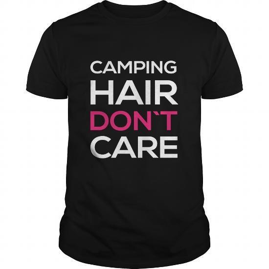 Camping Shirt  Camping hair dont care #tshirtfashion #fashion2018 #mentshirt #womenttshirt