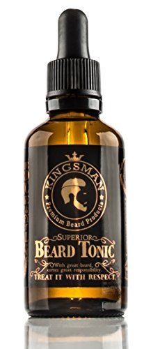 Kingsman Superior Beard Tonic - beard oil for beard growth and enhanced facial hair, large 50ml