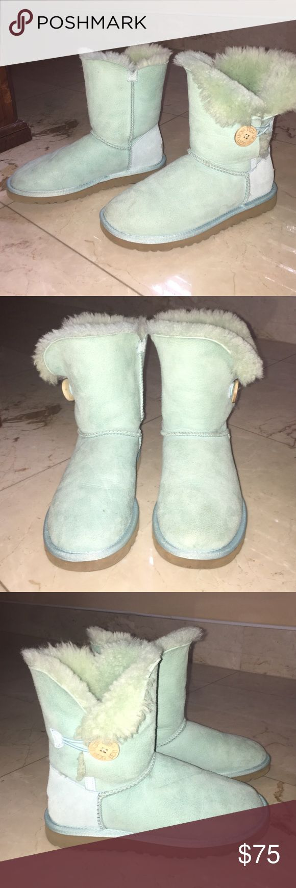 Light Blue UGG Boots Perfect condition light blue Ugg boots in a size 6. UGG Shoes Ankle Boots & Booties