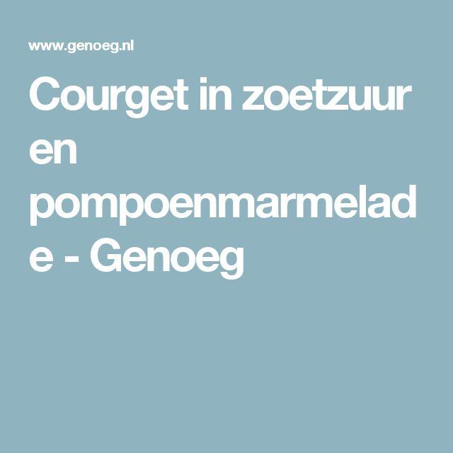 Courget in zoetzuur en pompoenmarmelade - Genoeg