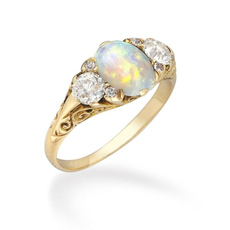 A victorian opal and diamond ring bentley skinner for Bentley and skinner jewelry