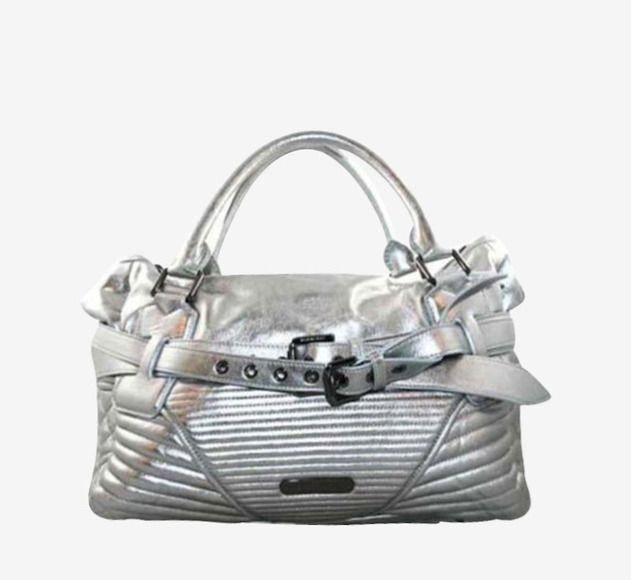 Burberry Silver Handbag