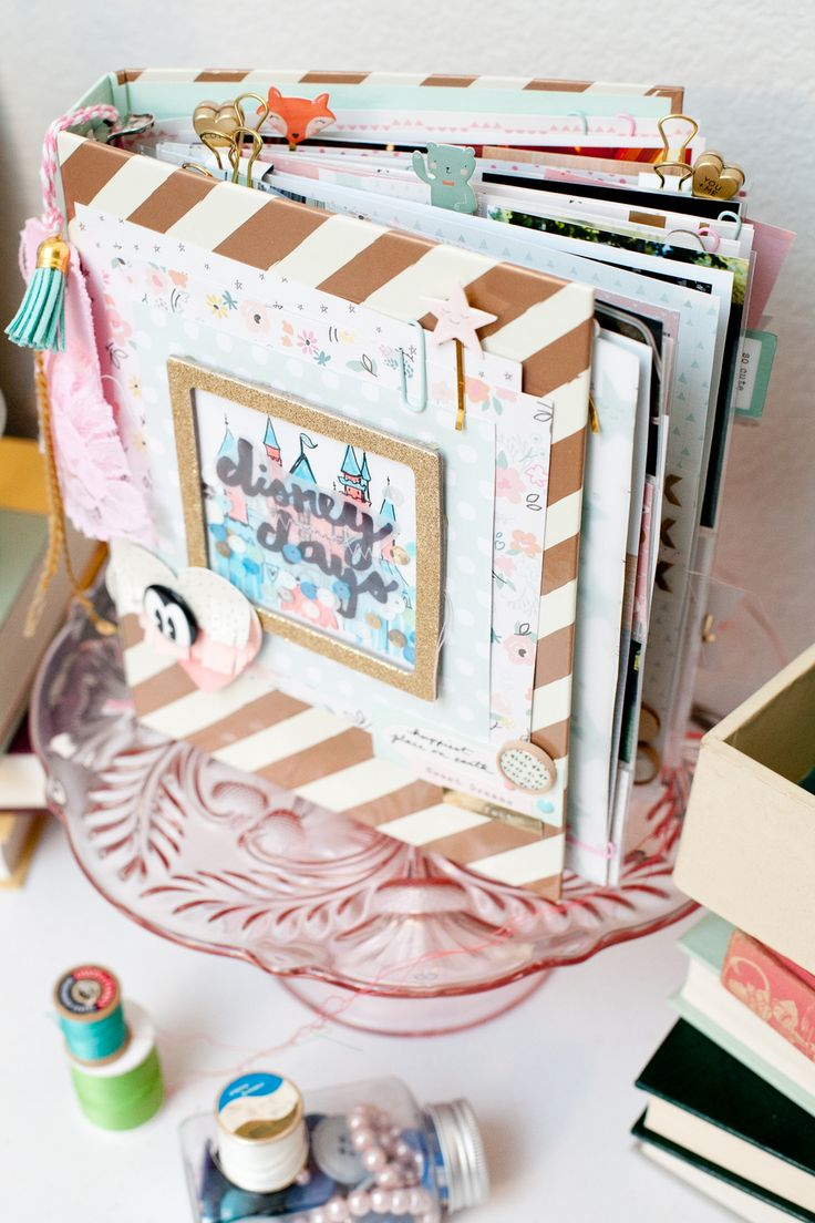 Disney Days album by Andrea Bethke Made using Crate Paper Little You collection