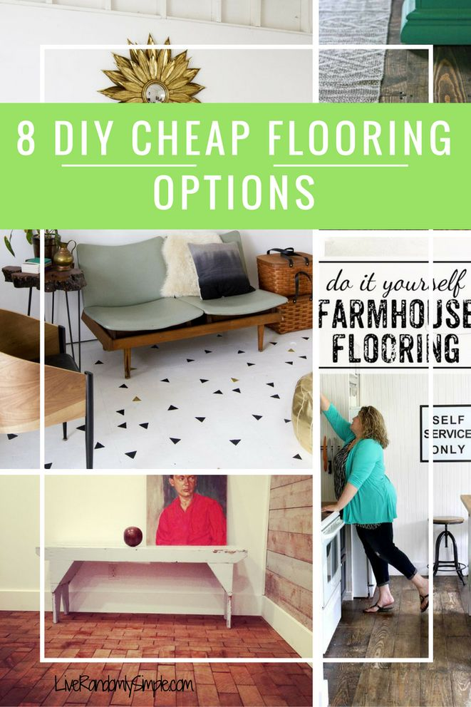 8 DIY Cheap Flooring Options | Live Randomly Simple