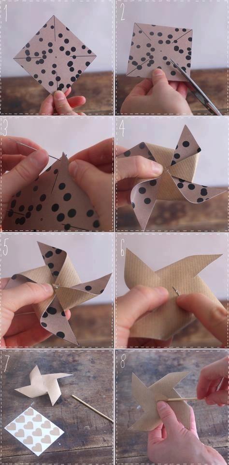 Moulin à vent en papier