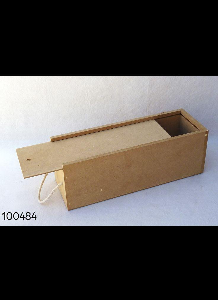 CAJA TAPA COLIZA PARA 1 BOTELLA VINO/CHAMPAGNE 35X12 H12 CM  Cod. 100484