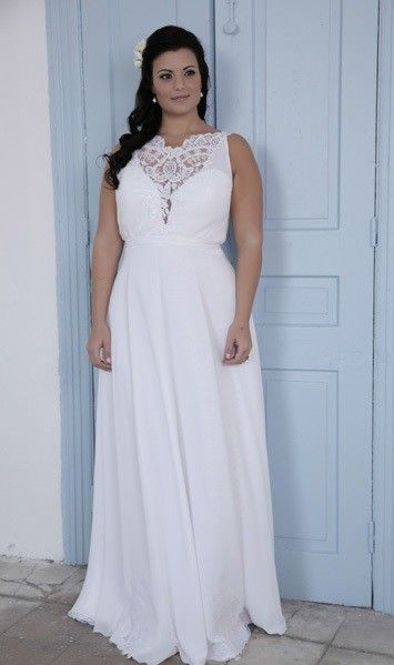 Style #PS1433 Sleeveless Plus Size Bridal Gown with Empire Waist