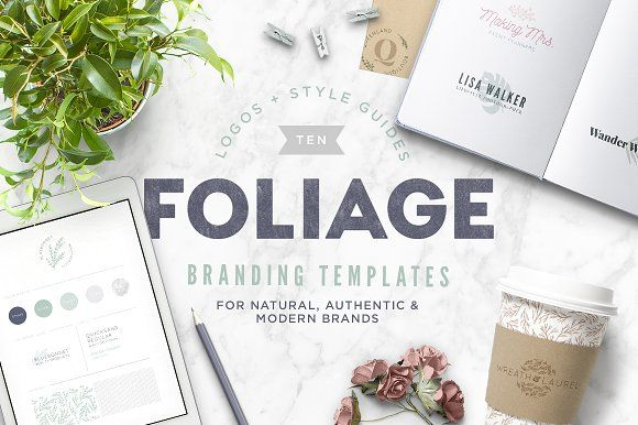 Foliage Branding Templates by Anugraha Design on @creativemarket