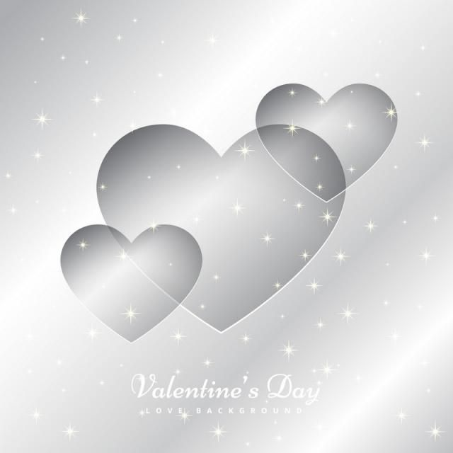 Hearts In Silver Background Vector Design Illustration Illustration Design Free Graphic Design Silver Background