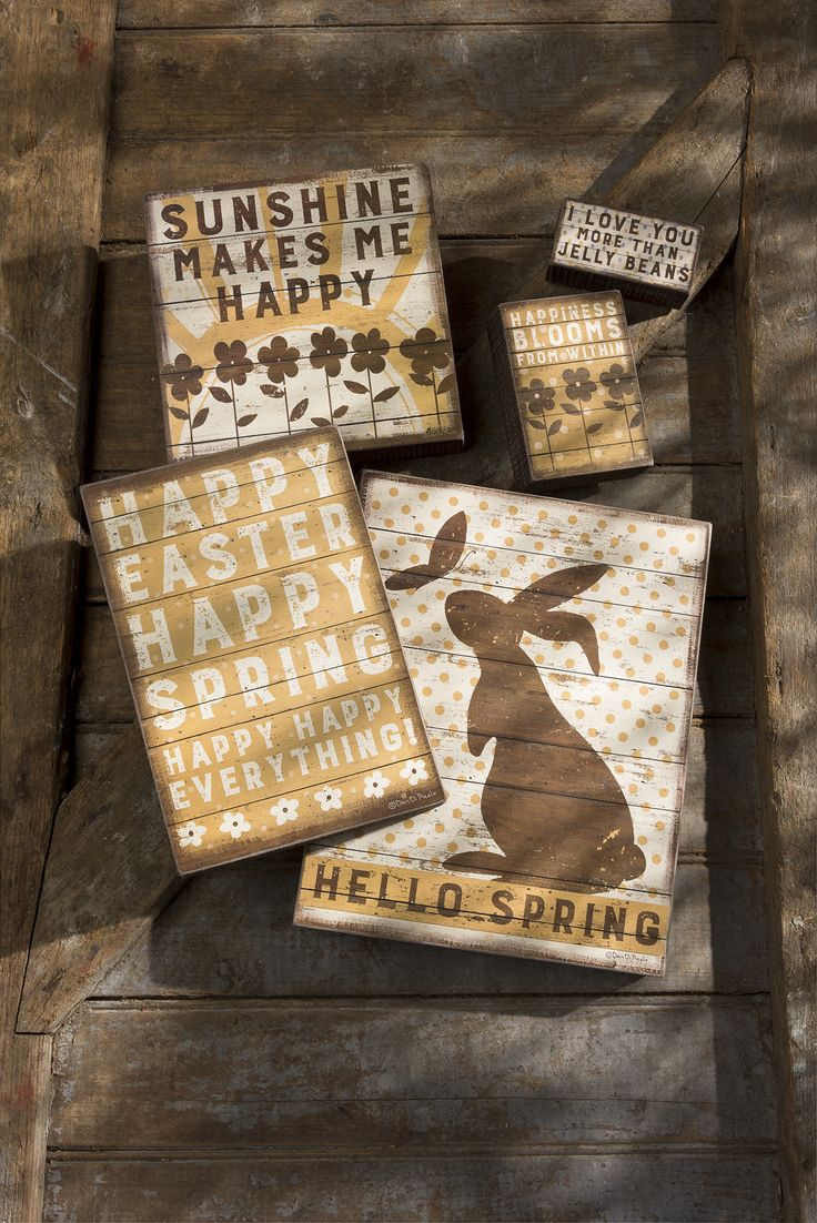 Rustic Easter Decor Box Signs By Primitives Kathy