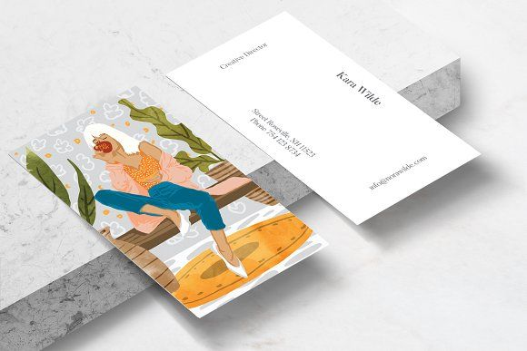 Boss Lady Business Card Template Business Cards Creative Templates Business Card Template Design Art Business Cards