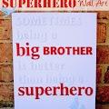 Superhero Wall Art: Big Brother
