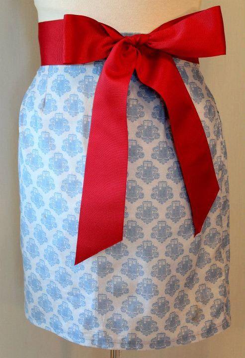 Dr who skirt. Subtle nerdy: Skirts Design, Bows Ties, The Tardis, The Doctors, Alert Design, Tardis Fabrics, Pencil Skirts, Tardis Skirts, Red Bows