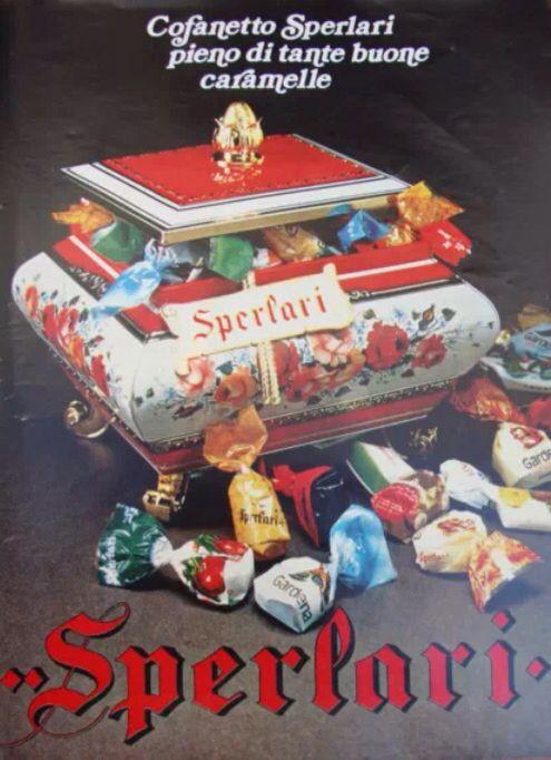 Cofanetto caramelle sperlari anni 70