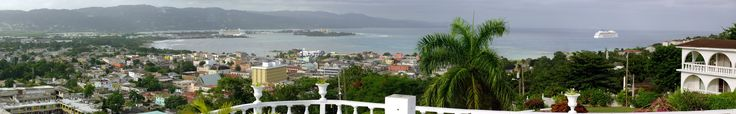 Jamaica: View on DownTown MoBay from Richmond Hill
