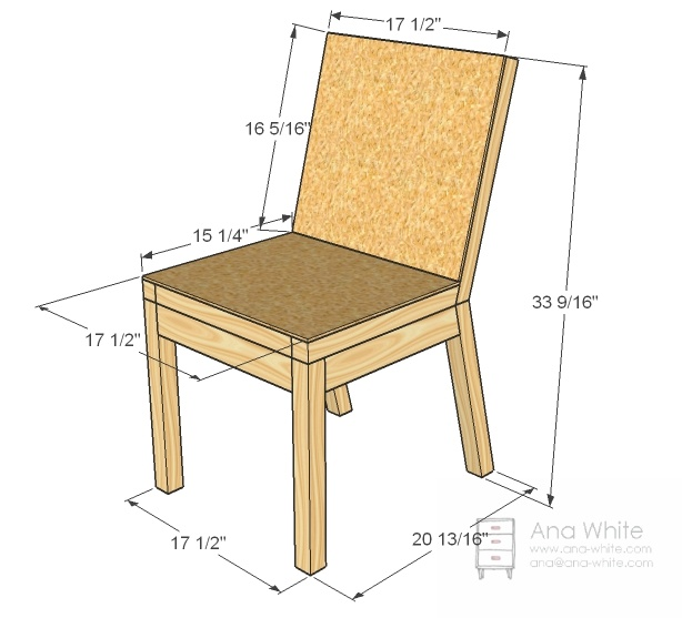 26 best images about furniture plans on pinterest for Free dining chair plans
