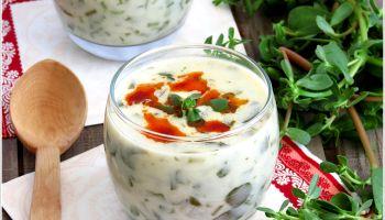 Yoğurtlu Sıcak Semizotu Çorbası