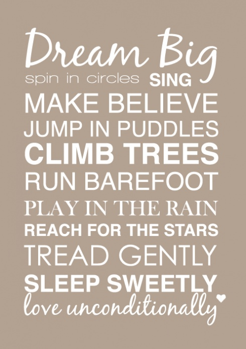 free printable poster for baby/kids room