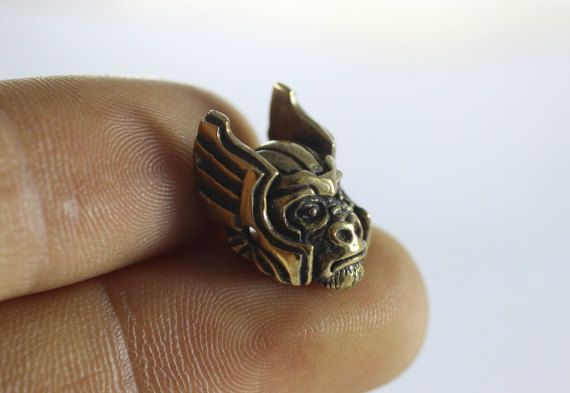 1 pc solide Bronze planète des singes perles par GoldenHornSupplies