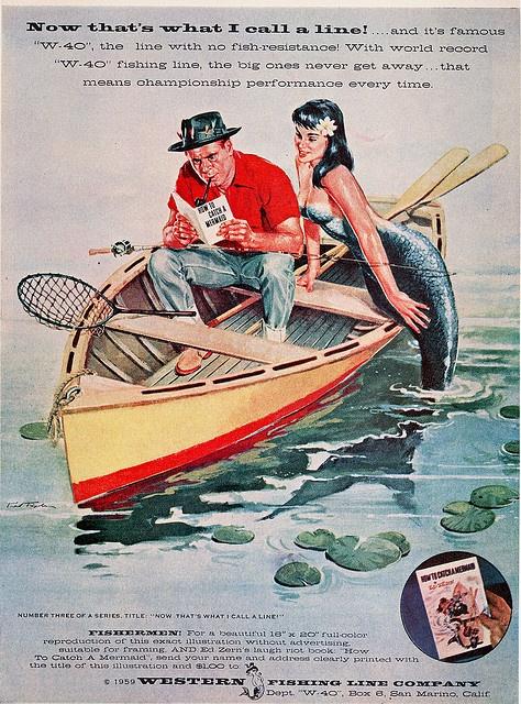 western fishing line mermaid Vintage mermaid, Vintage