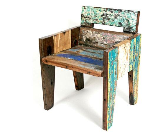 Reclaimed wood chair.
