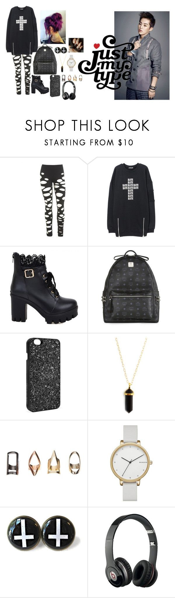 """""""Mall With Xiumin"""" by kpopisbae4life ❤ liked on Polyvore featuring Wet Seal, MCM, Victoria's Secret, Skagen and Beats by Dr. Dre"""