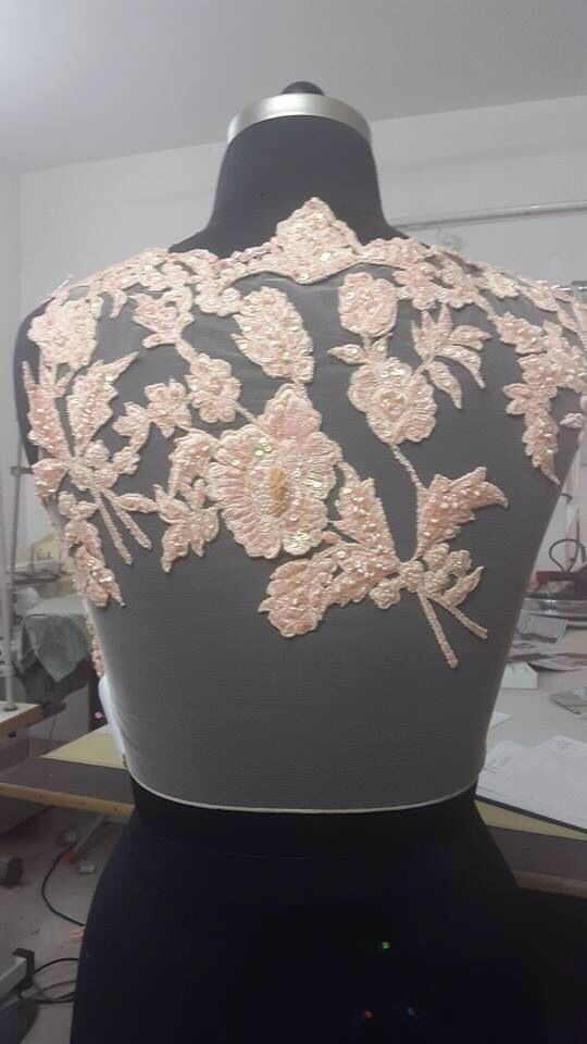 full net back with embroidery.. designer look get it at myTailor. in
