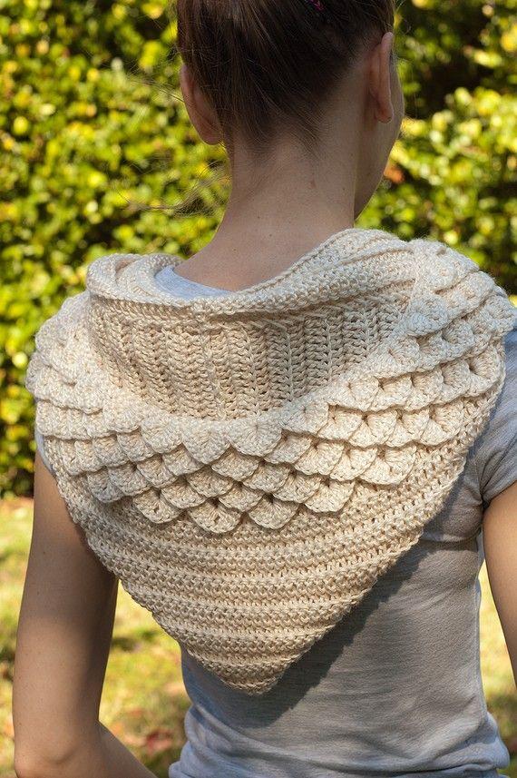 cool hooded cowl - crochet.