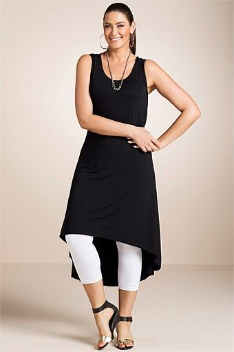Plus Size Women's Fashion - Sara Hi-Low Hem Dress
