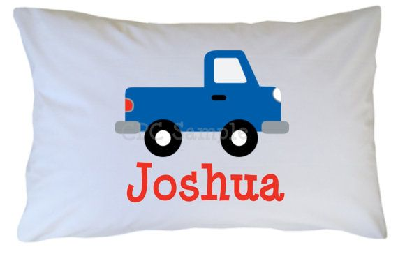 Car Pillow Case Blue Red Personalized: Pillowcase Boy, Pillow Cases, Personalized Pillowcase, Blue Red, Kid