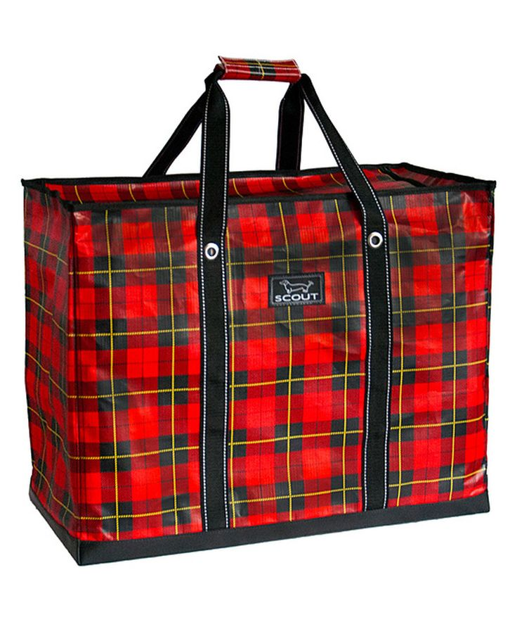 Red Tartan Large Box Tote