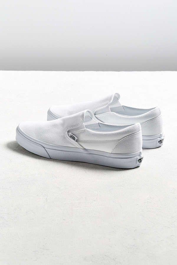 Slide View: 6: Vans Classic Slip-On White Sneaker