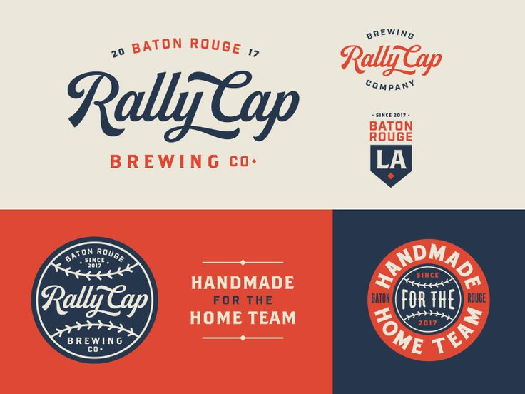 A few branding assets for a vintage baseball inspired brewpub/sports bar being opened in Baton Rouge.